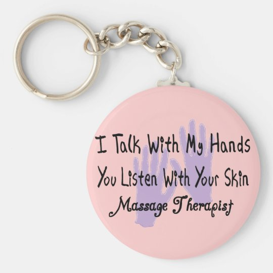Massage therapist Gifts--Hands Design Basic Round Button Key Ring