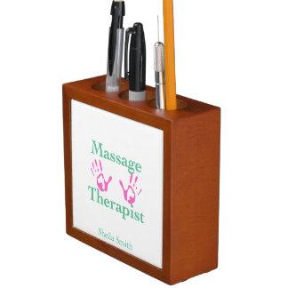 Massage Therapist Hand Prints Pencil/Pen Holder