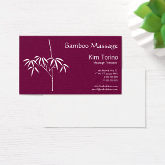 Massage Therapist Japanese Bamboo Business Card
