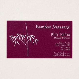 Massage Therapist Japanese Bamboo Business Card