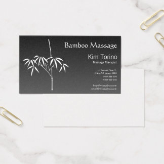 Massage Therapist Japanese Bamboo Gradient Business Card