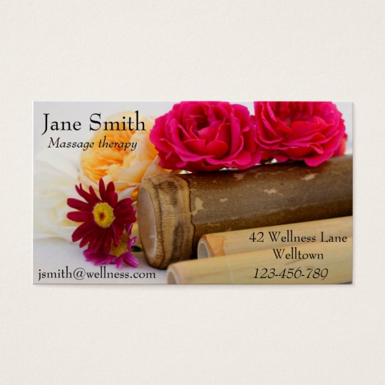 Massage therapist Natural Therapies Wellness Business Card