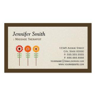 Massage Therapist - Simple Elegant Sunflowers Pack Of Standard Business Cards