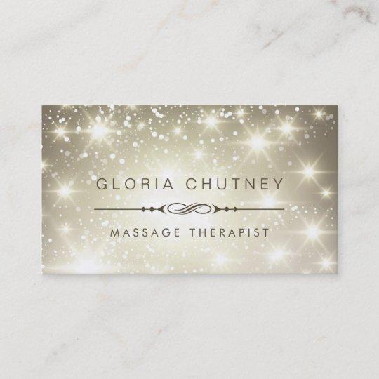 Massage therapist sparkling bokeh glitter business card zazzle massage therapist sparkling bokeh glitter business card reheart Choice Image