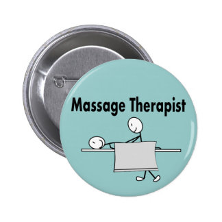 Massage Therapist Stick Person 6 Cm Round Badge