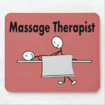 Massage Therapist Stick Person Mouse Mats
