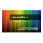 Massage Therapist - Stylish Rainbow Colours Pack Of Standard Business Cards