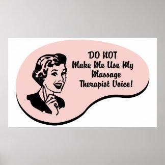 Massage Therapist Voice Print