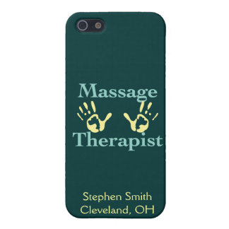 Massage Therapist: Yellow Hand Prints iPhone 5/5S Cover