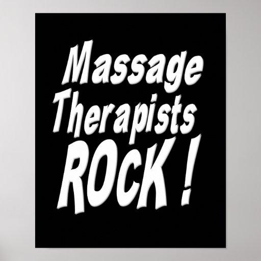 Massage Therapists Rock! Poster Print