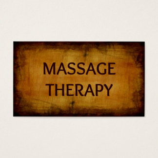 Massage Therapy Antique Brushed Business Card