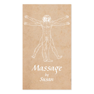 Massage Therapy Bodywork Vintage Therapist Pack Of Standard Business Cards