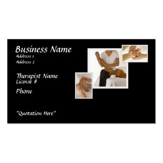 Massage Therapy Business Card, black background Pack Of Standard Business Cards