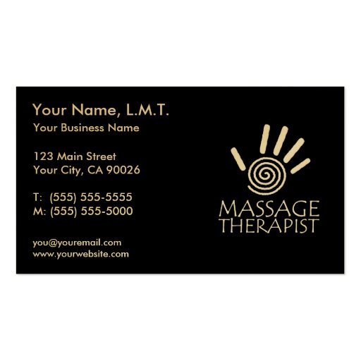 Premium massage business card templates massage therapy business cards flashek Choice Image