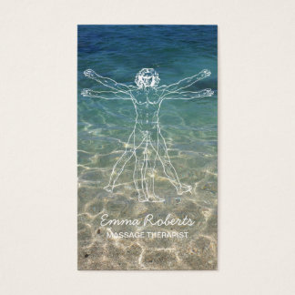 Massage Therapy Elegant Healing Sea Spa Business Card