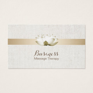Massage Therapy Elegant Lotus Flowers Salon Spa Business Card