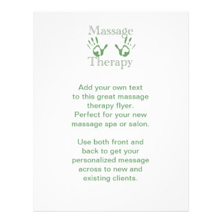Massage therapy hand prints 21.5 cm x 28 cm flyer