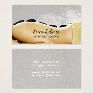 Massage Therapy Hot Stone Beauty Spa Salon Business Card