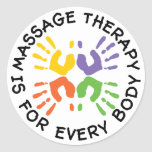Massage Therapy Is For Every Body Stickers