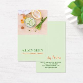 Massage Therapy Natural Essential Oil Aromatherapy Business Card