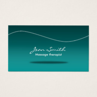 Massage Therapy Stylish Teal Business Card
