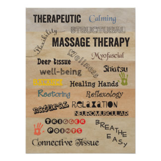Massage Therapy Words Poster Art