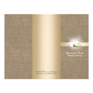 Massage Therapy Yoga Glowing Lotus Buralp Tri-Fold 21.5 Cm X 28 Cm Flyer