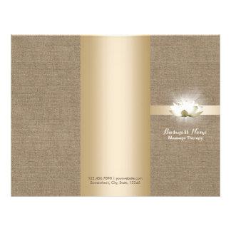 Massage Therapy Yoga Glowing Lotus Buralp Tri-Fold 21.5 Cm X 28 Cm Flyer