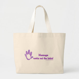 Massage Works Out the Kinks Large Tote Bag