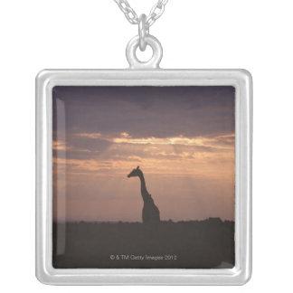 Massai Giraffe Silver Plated Necklace