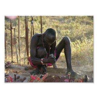 Massai Spear and Knife Blacksmith Art Photo