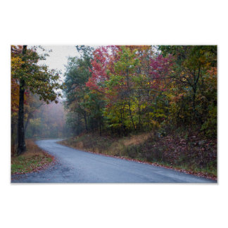 Massanutten Mountain Drive in Fall, Virginia Poster