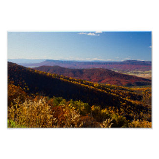 Massanutten Mountain in Fall, Virginia Poster