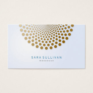 Masseuse Business Card Circle Dots Motif