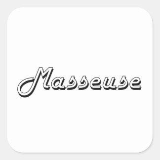 Masseuse Classic Job Design Square Sticker
