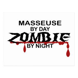 Masseuse Zombie Postcard
