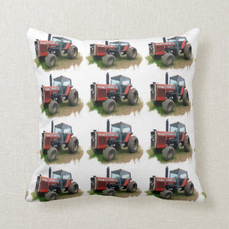 Massey Ferguson Red Tractor in the Field Cushion