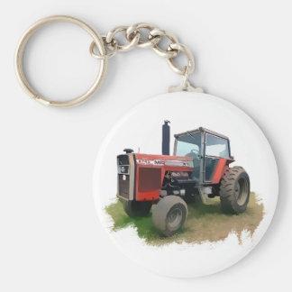 Massey Ferguson Red Tractor in the Field Key Ring