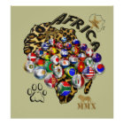 Massive Africa World Cup Soccer football poster