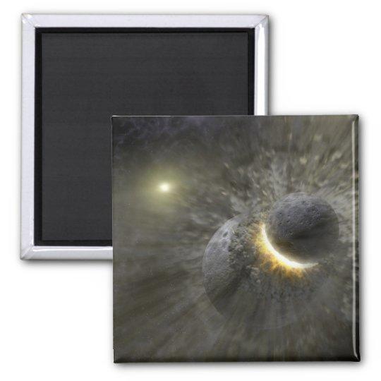 Massive smash up in Vega NASA Square Magnet