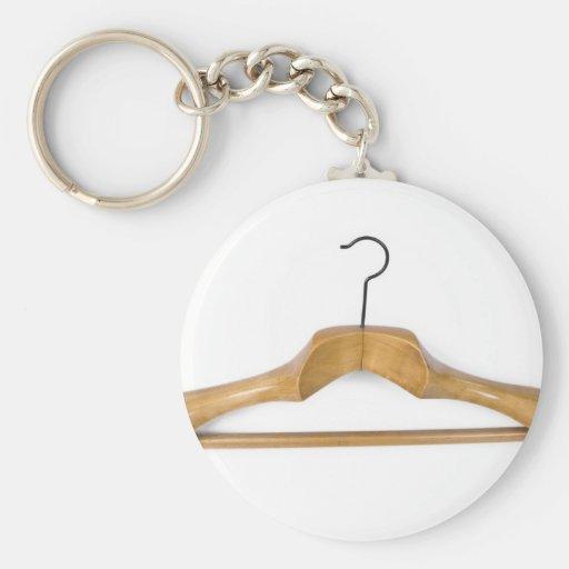 massive wooden coat hanger key chain