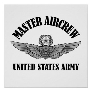 Master Aviation Badge Poster