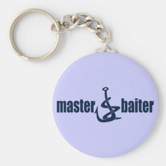 Master Baiter Basic Round Button Key Ring