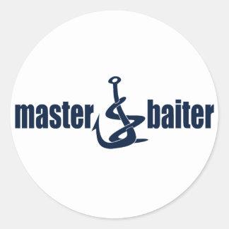 Master Baiter Classic Round Sticker