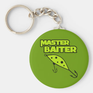 Master Baiter Fishes By Himself Basic Round Button Key Ring
