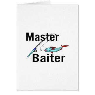 Master Baiter Fishing Card
