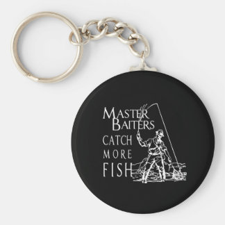 MASTER BAITERS CATCH MORE FISH T-shirt Basic Round Button Key Ring
