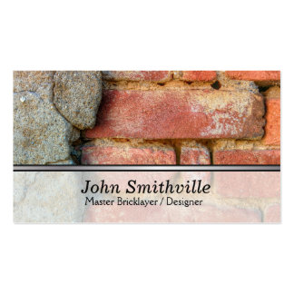 Master Brick Layer and Designer Business Card