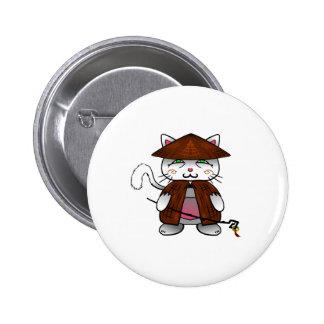 Master cat 6 cm round badge