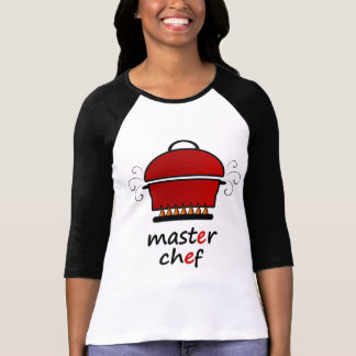 Master Chef With Hot Pot And Lid On Flames Shirts